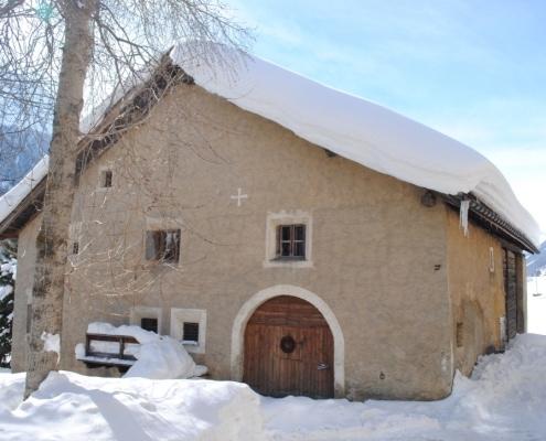 Geburtshaus & Atelier von Glaskünstler Gian Casty in Zuoz/Schweiz