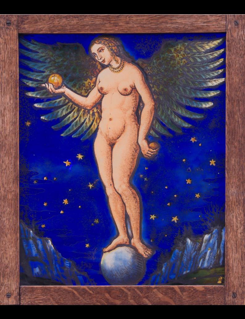 Geflügelte Eva von Ernst Rinderspacher - Gian Casty Glaskunst